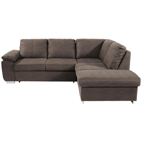 Sjedeća Garnitura Cara - svijetlo smeđa/boje kroma, Romantik / Landhaus, tekstil/metal (250/213cm) - Modern Living
