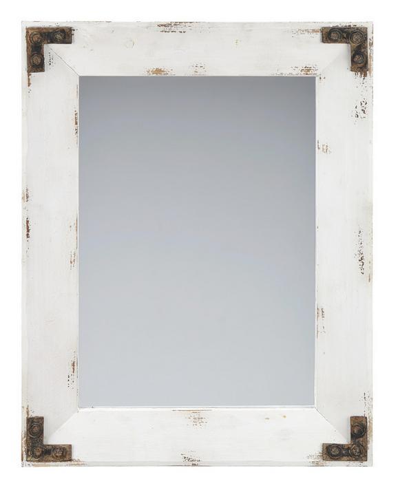 Spiegel Chiara - Weiß, ROMANTIK / LANDHAUS, Glas/Holz (62/80/5cm) - premium living