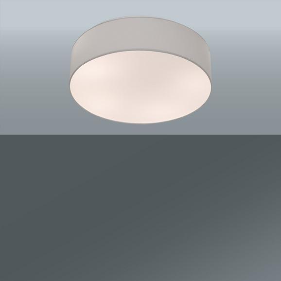 Deckenleuchte Decent max. 60 Watt - Grau, Textil/Metall (60/19,5cm)