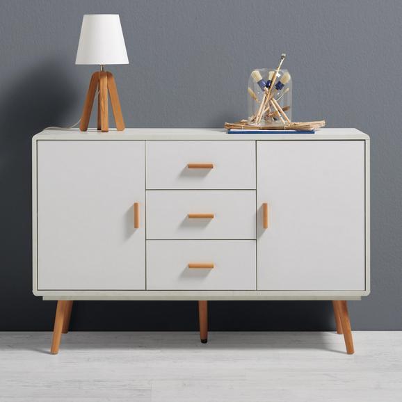 Sideboard Claire - Buchefarben/Weiß, MODERN, Holz (120/78/39cm) - Mömax modern living