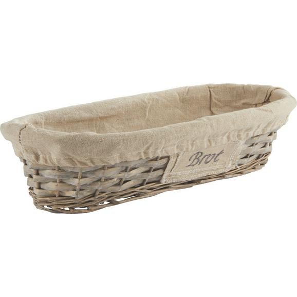 Košarica Za Kruh Oliver - siva, Romantika, les/naravni materiali (41/9/18cm) - Mömax modern living