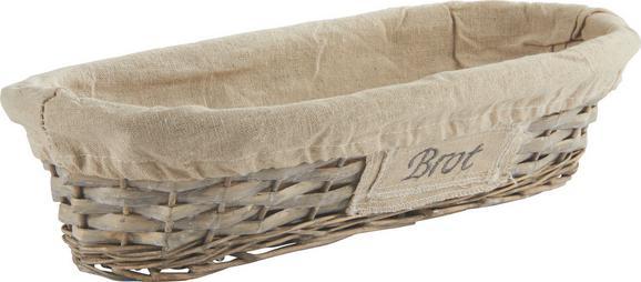 Košarica Za Kruh Oliver - siva, Romantika, ostali naravni materiali/les (41/9/18cm) - Mömax modern living
