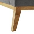 Sofa Mina Dreisitzer inkl. Rückenkissen - Grau, MODERN, Holz/Textil (190/81/78cm) - Modern Living