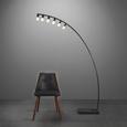 Stehleuchte Diego - Schwarz, MODERN, Kunststoff/Stein (135/25/200cm) - Mömax modern living