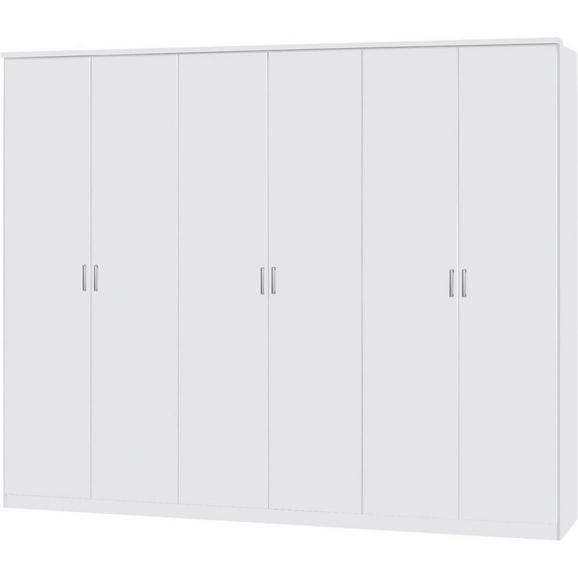 Dulap De Haine Lemgo - alb, Konventionell, lemn (271/212/54cm)