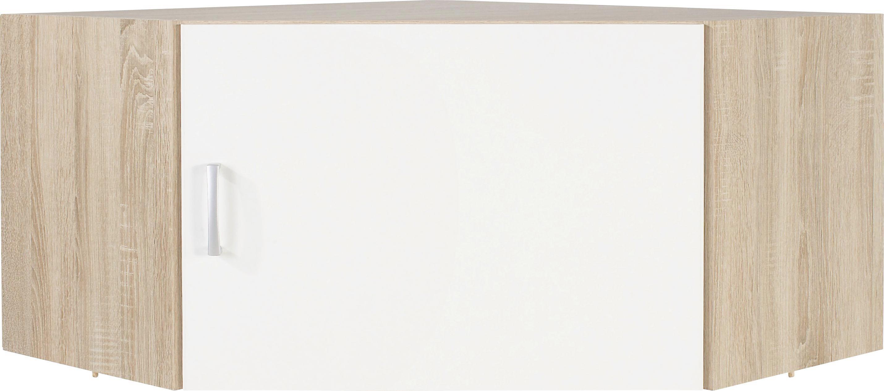 Sarokszekrény Rátét Tio - tölgy színű/fehér, konvencionális, faanyagok (80/80cm)