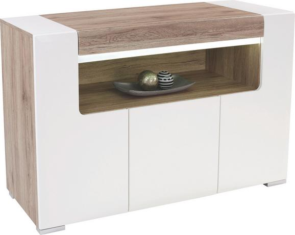 Komoda Toronto - bela/hrast, Moderno, leseni material (140/85/42,2cm) - Mömax modern living