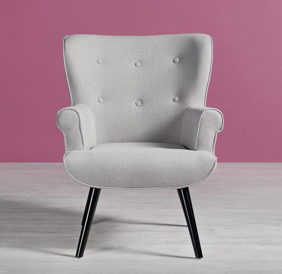 Sessel Jovan - Hellgrau, MODERN, Holz/Textil (75/92/82cm) - Modern Living