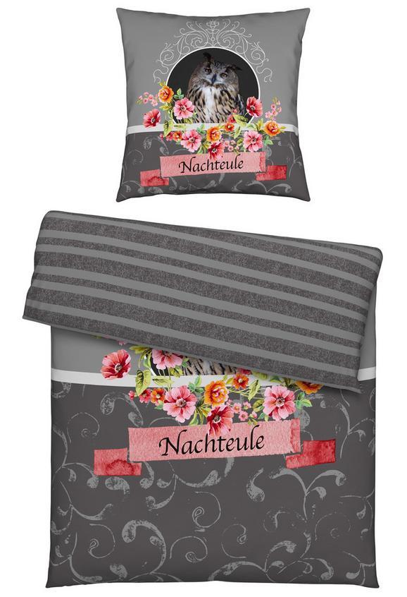 Bettwäsche Nachtheule, ca. 135x200cm - Grau, ROMANTIK / LANDHAUS, Textil - Mömax modern living
