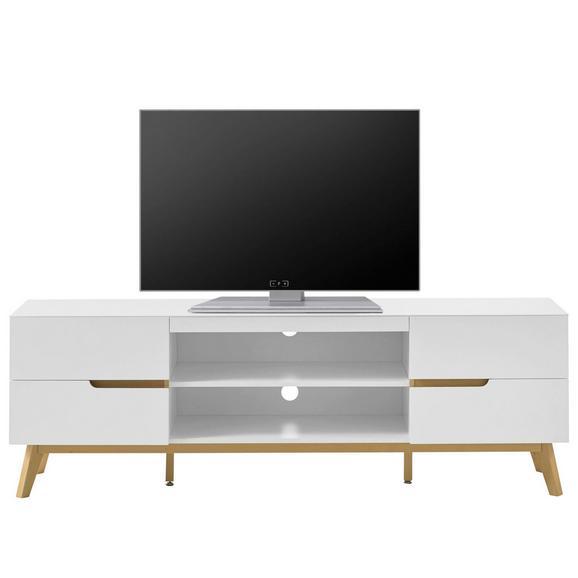Lowboard in Weiß/Eichefarben - Eichefarben/Weiß, MODERN, Holz/Holzwerkstoff (169/56/41cm) - Premium Living