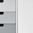 Sideboard Daniela - Weiß/Grau, MODERN, Holz (120/60/35cm) - Modern Living