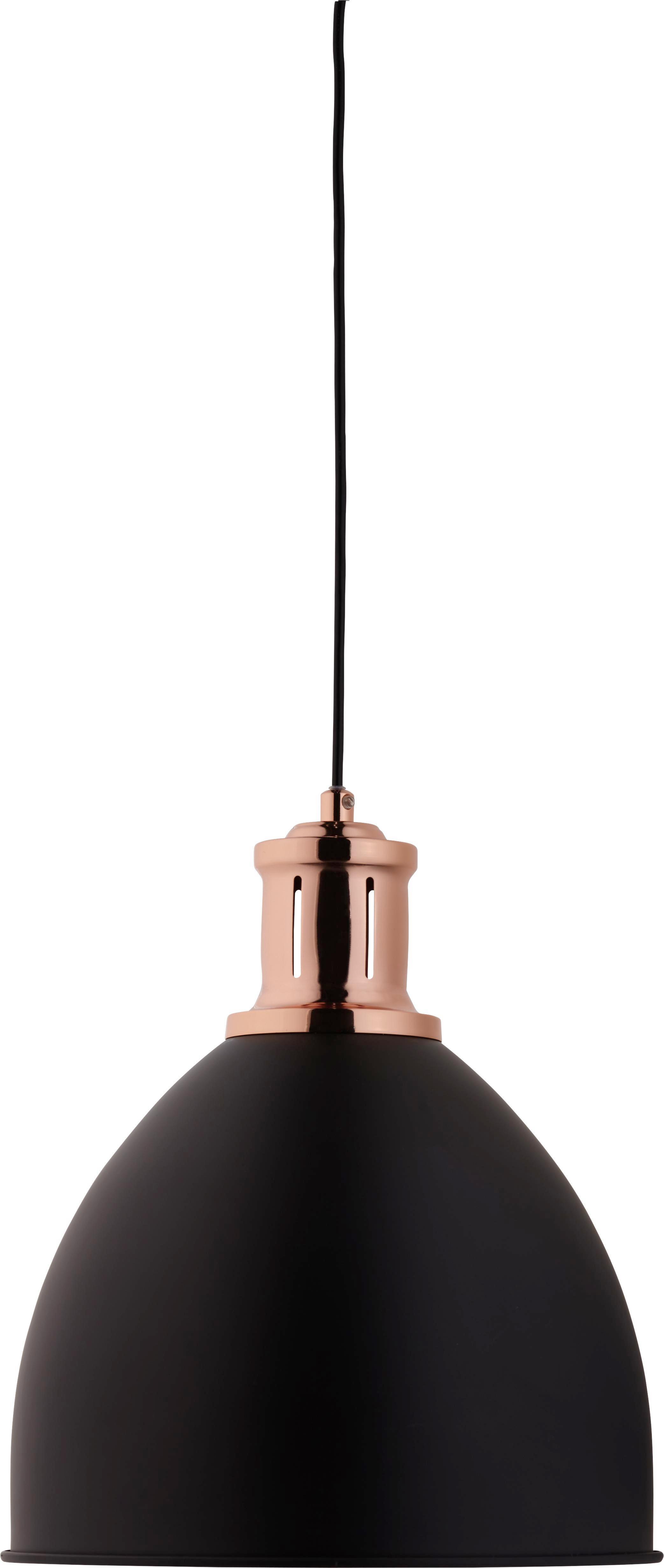 Hängeleuchte Ava - Schwarz/Kupferfarben, MODERN, Metall (30/30/120cm) - MÖMAX modern living