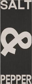 Flachwebeteppich Pepper& Salt, ca. 80x200cm - Schwarz, LIFESTYLE, Textil (80/200cm) - MÖMAX modern living