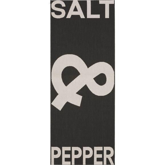Flachwebeteppich Pepper& Salt ca. 80x200cm - Schwarz, LIFESTYLE, Textil (80/200cm) - Mömax modern living