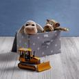 Aufbewahrungsbox Sandy mit Deckel - Weiß/Grau, MODERN, Kunststoff (40/25/25cm) - Mömax modern living