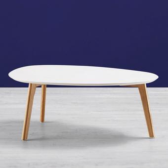 Couchtisch Twist 90x49cm - Eichefarben/Weiß, MODERN, Holz/Kunststoff (90/49/34,5cm) - Mömax modern living