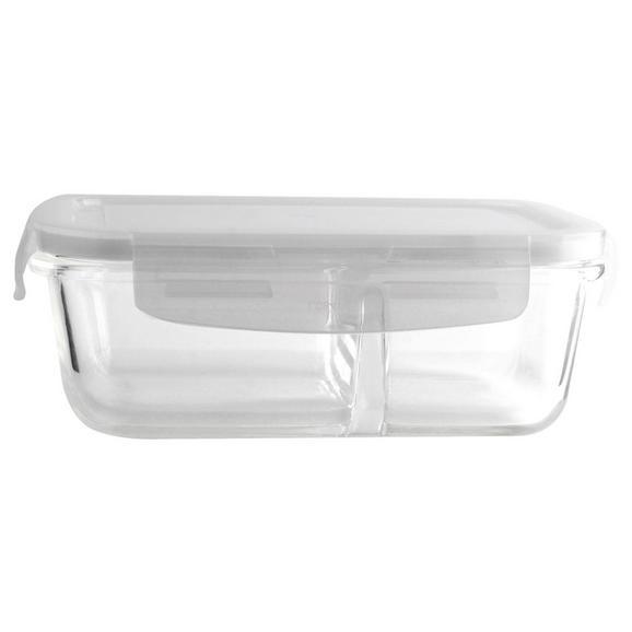 Frischhaltedose Freshy ca. 650ml - Klar, Glas/Kunststoff - Premium Living