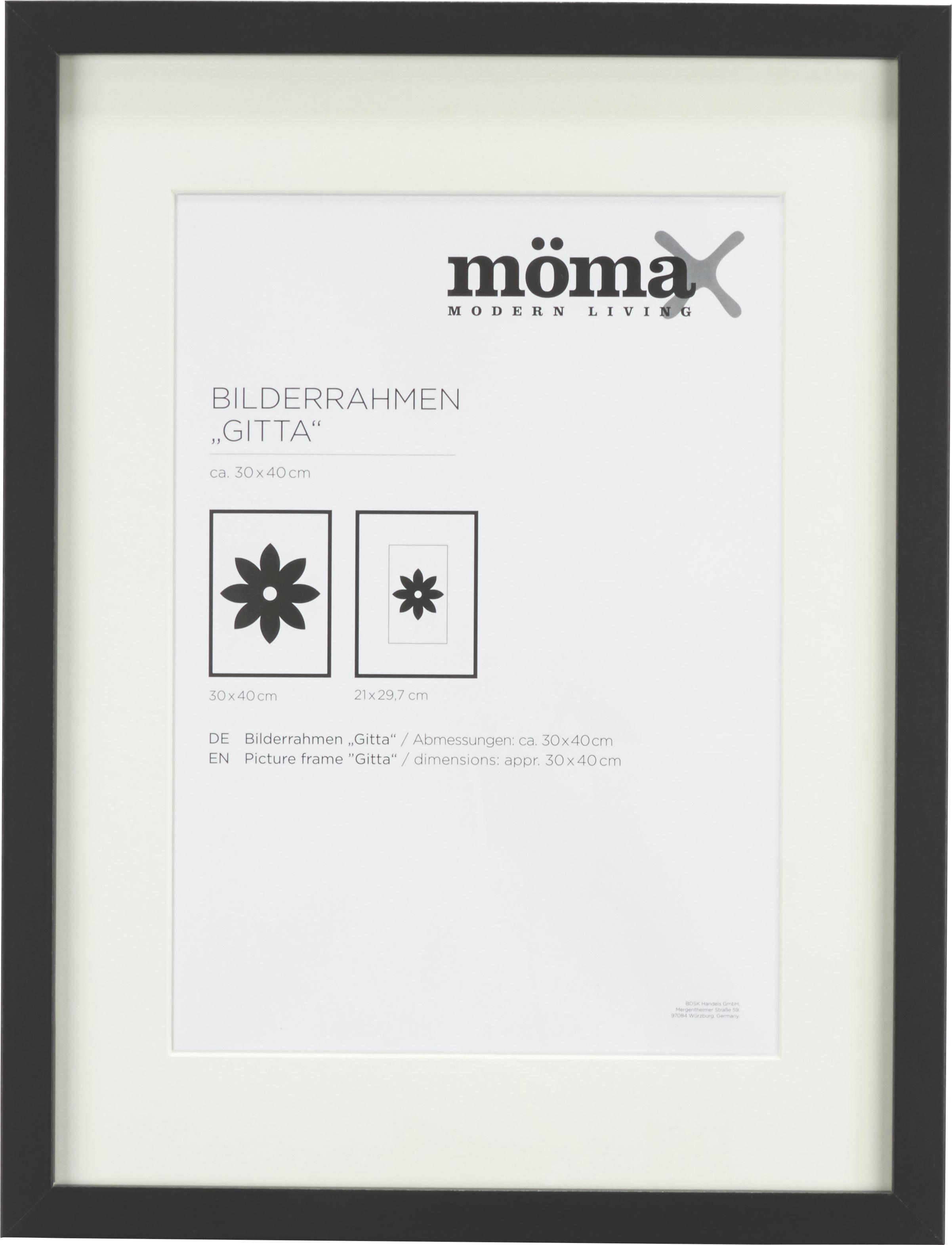 Bilderrahmen Gitta, ca. 30x40cm in Schwarz online kaufen ➤ mömax