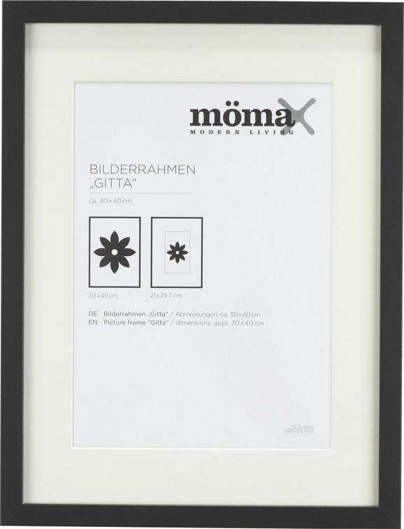Bilderrahmen Gitta, ca. 30x40cm in Schwarz - Schwarz, MODERN, Glas/Holzwerkstoff (30/40cm) - MÖMAX modern living