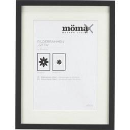 Bilderrahmen Gitta ca. 30x40cm Schwarz - Schwarz, MODERN, Glas/Holzwerkstoff (30/40/3,6cm) - Mömax modern living