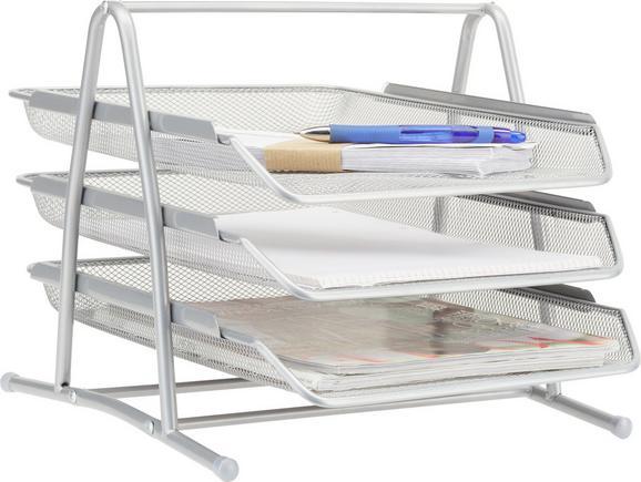 Briefablage Mesh - Silberfarben, Metall (35/27,5/29,5cm) - MÖMAX modern living