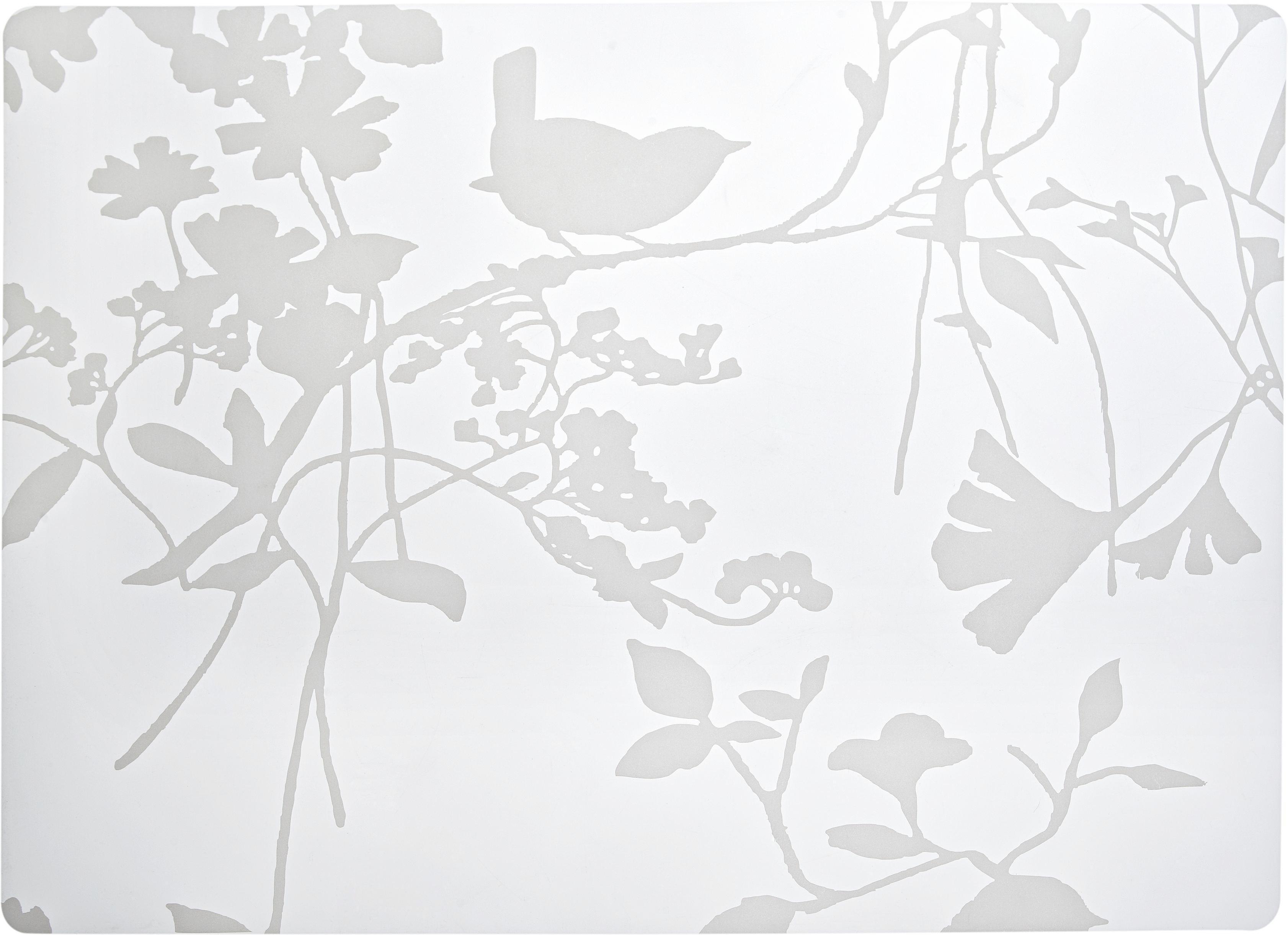 Tischset Birdy in Weiß - Weiß, Kunststoff (33/45cm) - MÖMAX modern living