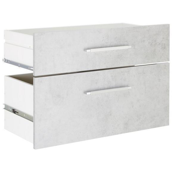 Schubladenset in Grau 2er Set - Alufarben/Grau, MODERN, Holzwerkstoff/Metall (76/51,4/39cm) - Mömax modern living