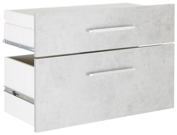 Schubladenset in Grau - Alufarben/Grau, MODERN, Holzwerkstoff/Metall (76/51,4/39cm) - Mömax modern living