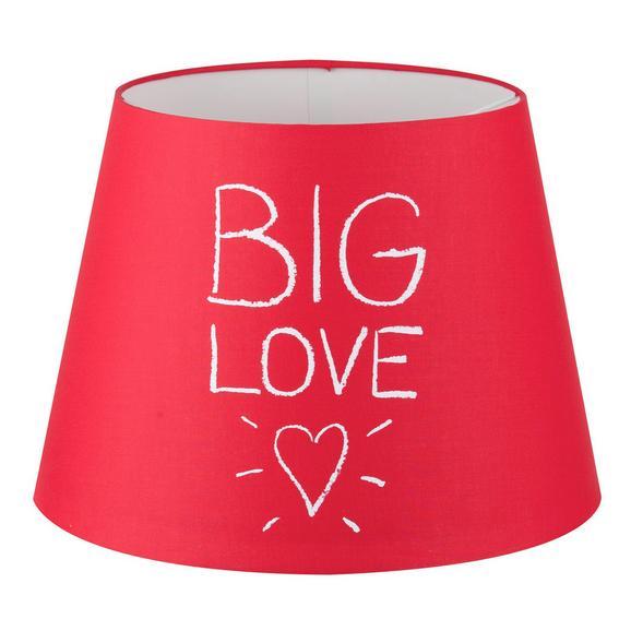 Leuchtenschirm BIG LOVE - Rot, Textil/Metall (25-35/25cm) - Mömax modern living