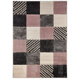 Webteppich Georgia ca. 120x170cm - Rosa/Grau, MODERN, Textil (120/170cm) - Mömax modern living