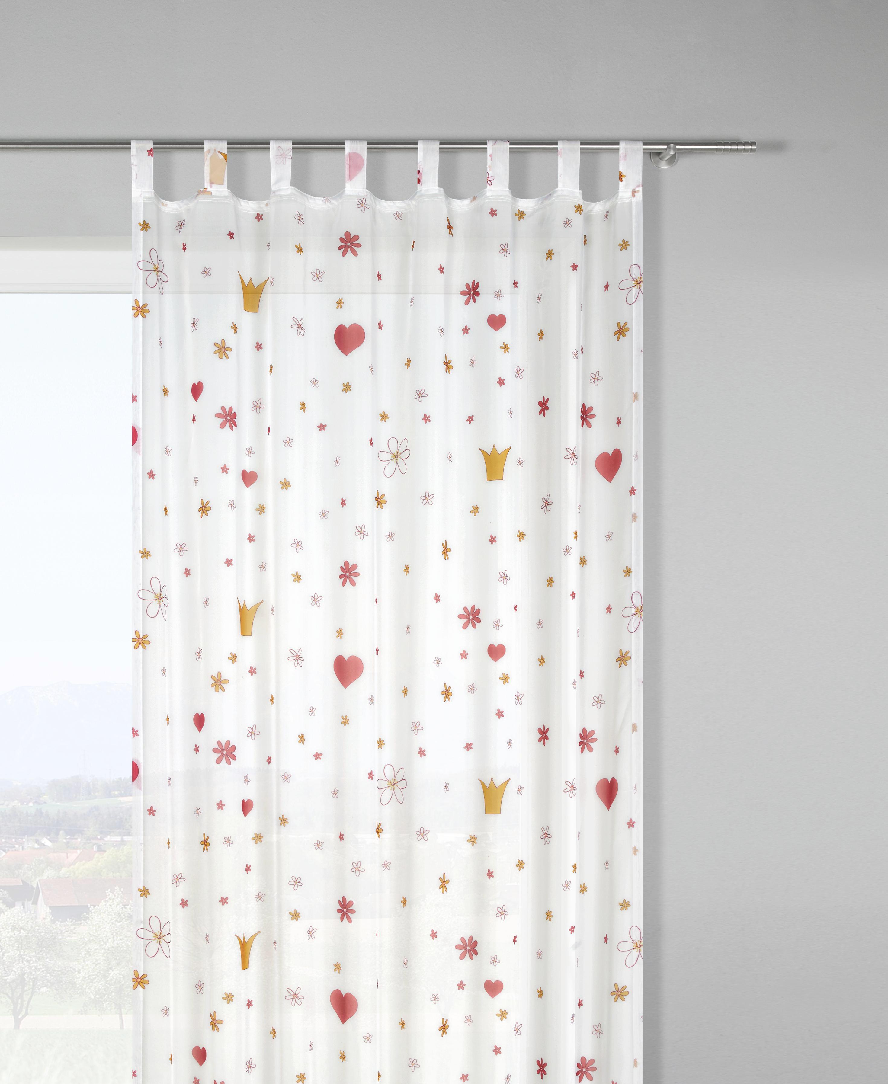 Készfüggöny Sweety - rózsaszín/fehér, textil (135/245cm) - MÖMAX modern living