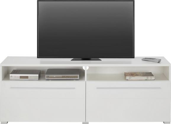 TV-Element Weiß matt - Chromfarben/Weiß, MODERN, Holzwerkstoff/Kunststoff (160/57/40cm) - MODERN LIVING