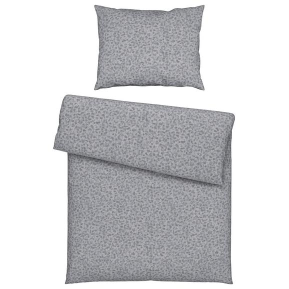 Lenjerie De Pat Leo Grey - gri, textil (140/200cm) - Modern Living