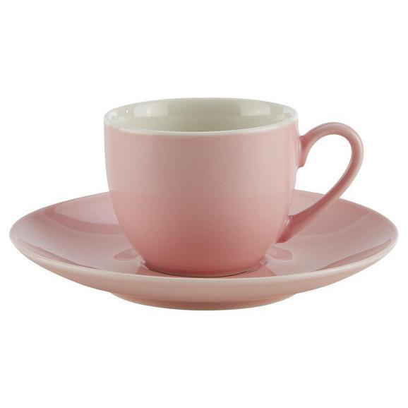 Skodelica S Krožničkom Sandy - roza, Konvencionalno, keramika (6,4/5cm) - Mömax modern living