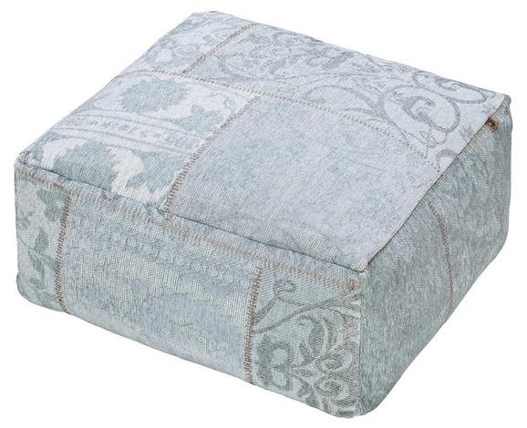 Pouf Samra ca.60x30cm in Mint - Mintgrün, MODERN, Textil (60/60/30cm)