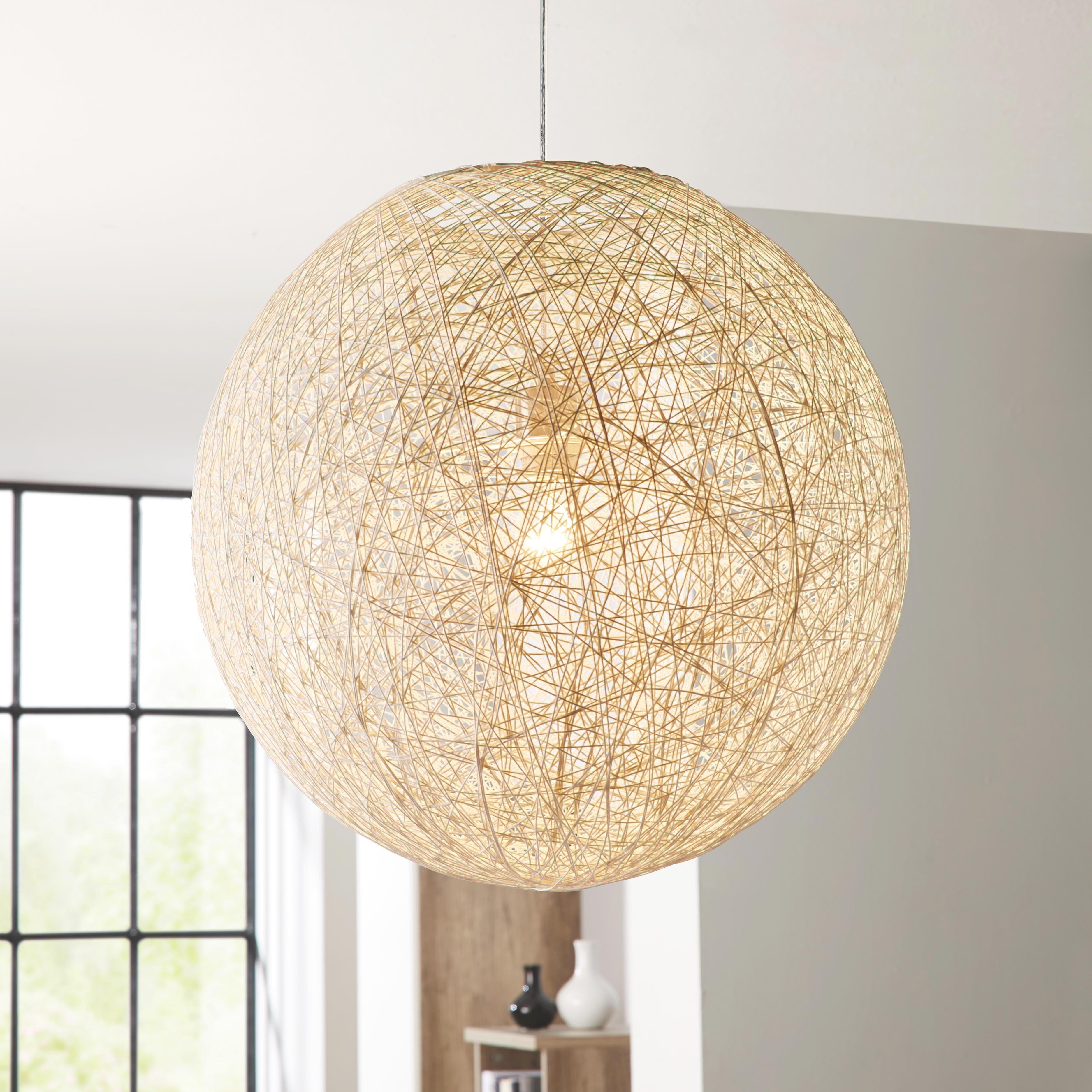 Függőlámpa Sophia - fehér, Lifestyle, műanyag/további természetes anyagok (50cm) - MÖMAX modern living