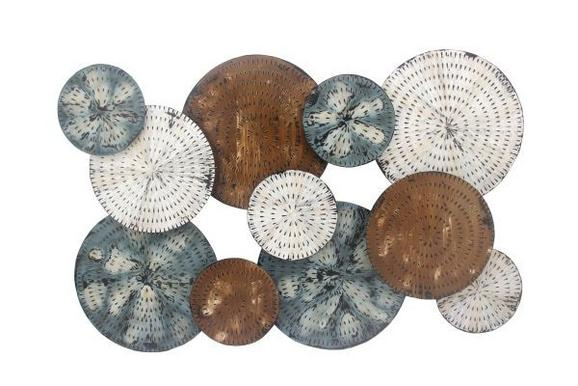 Stenska Dekoracija Paul - modra/bela, Trendi, kovina (120/80/5,5cm) - MÖMAX modern living