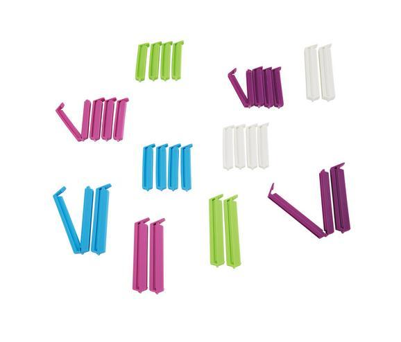 Hűtőzacskó Csipesz Clemens - Pink/Lila, Műanyag (7,5/1,7cm) - Mömax modern living