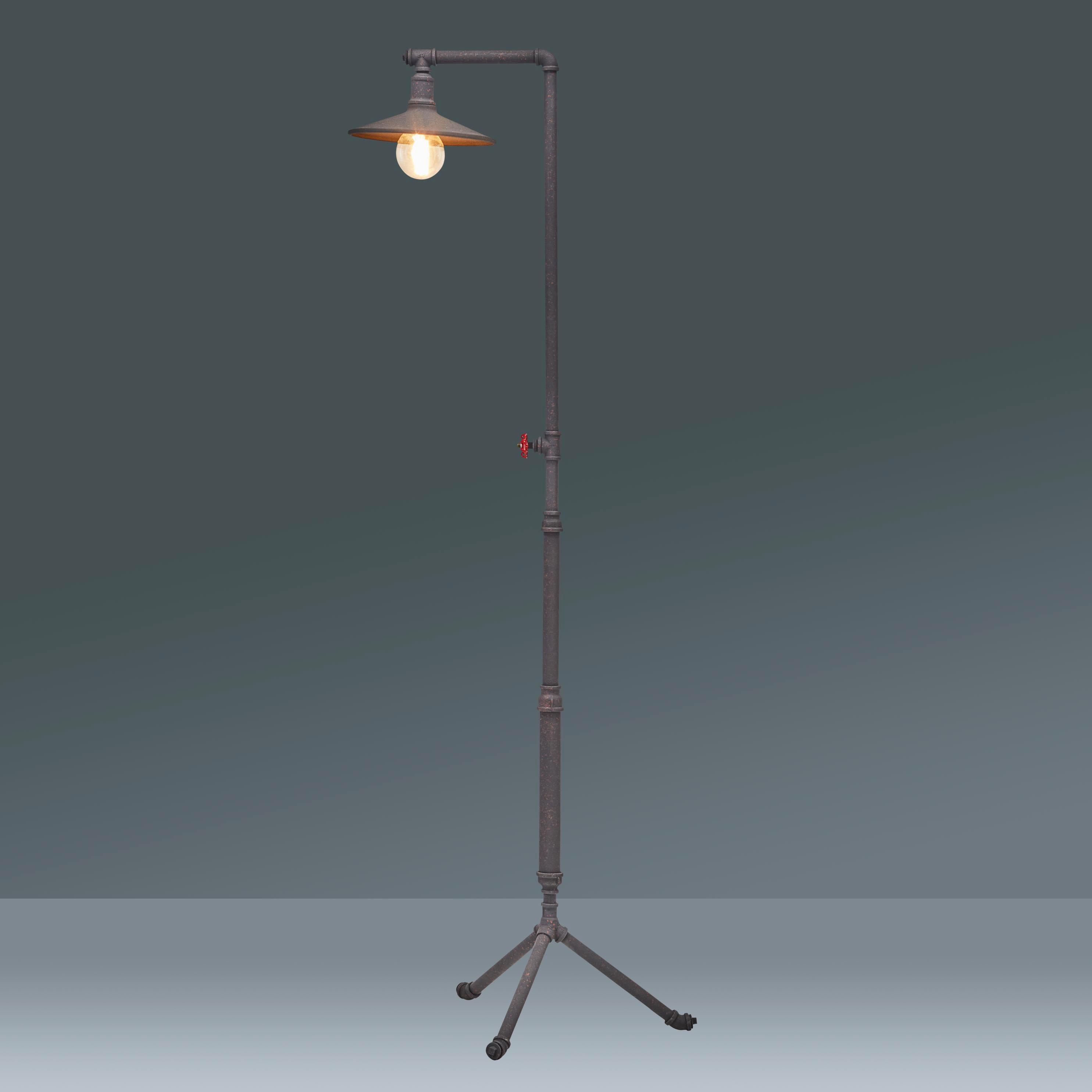 Stehleuchte Raul, max. 40 Watt - Schwarz, LIFESTYLE, Metall (55/178cm) - MÖMAX modern living