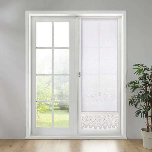 Gardine Vanessa ca. 60x180cm - Weiß, KONVENTIONELL, Textil (60/180cm) - Bessagi Home