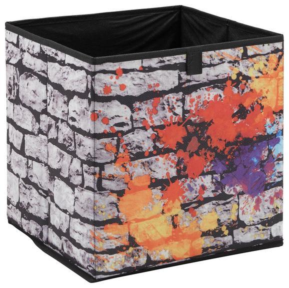Aufbewahrungsbox Poppi 3 in Bunt - Multicolor, MODERN, Karton/Textil (32/32/32cm) - MÖMAX modern living