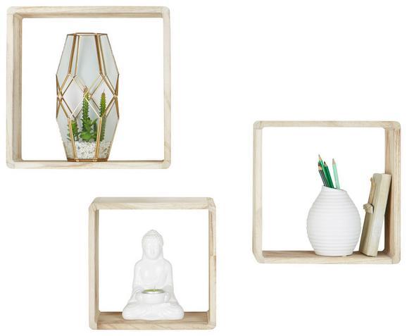 Wandregalset Naturfarben - Naturfarben, MODERN, Holz - Mömax modern living