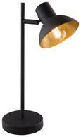 Namizna Led-svetilka Goldy - črna/zlata, Trendi, kovina (20,5/13/38cm)