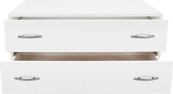 Schubladenbox in Weiß, ca. 80x33x52cm - Weiß, KONVENTIONELL, Holzwerkstoff (80/33/52cm) - Modern Living