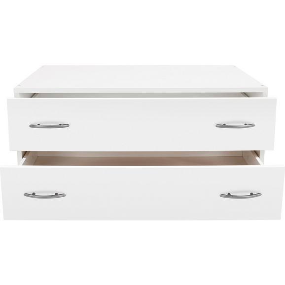 Schubladenbox in Weiß ca. 80x33x52cm - Weiß, KONVENTIONELL, Holzwerkstoff (80/33/52cm) - Modern Living