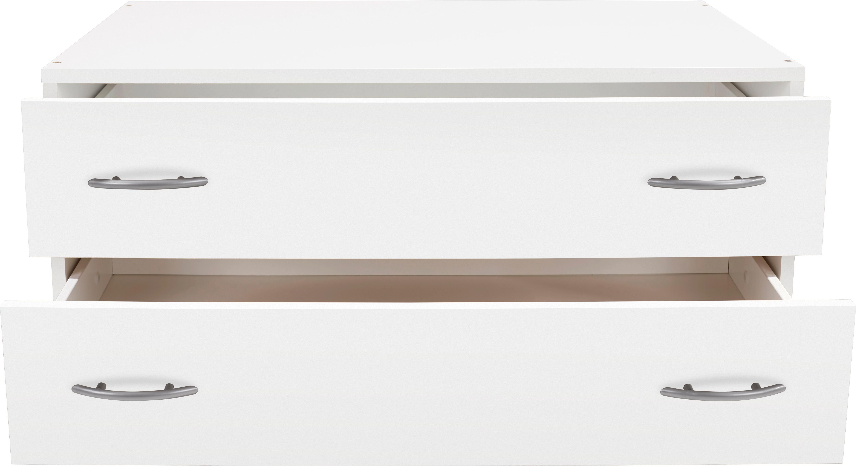 Schubladenbox Wels in Weiß, ca. 80x33x52cm - Weiß, KONVENTIONELL, Holzwerkstoff (80/33/52cm) - MODERN LIVING