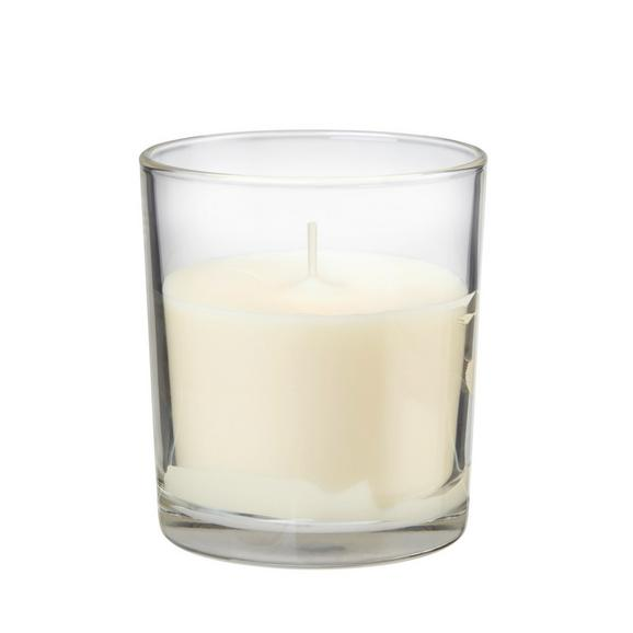 Kerze im Glas Mona in Creme, Grau, Grün - Creme/Grau, Glas (7,2/8,3cm) - Mömax modern living