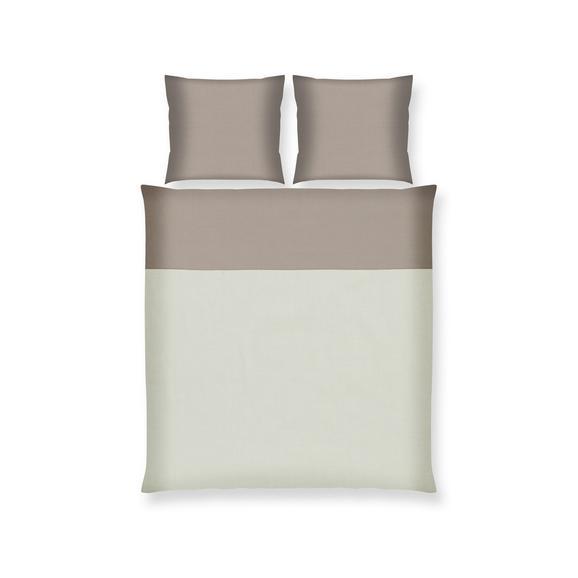 Bettwäsche Belinda ca. 200x200cm - Creme/Grau, Textil (200/200cm) - Premium Living