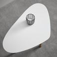 Couchtisch Kimi ca.70x40cm - Buchefarben/Weiß, MODERN, Holz/Metall (40/70/46,5cm) - Bessagi Home