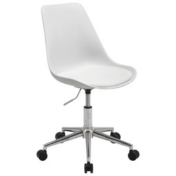Drehstuhl in Weiß - Chromfarben/Weiß, MODERN, Kunststoff/Textil (47/81-91/57,5cm) - Mömax modern living